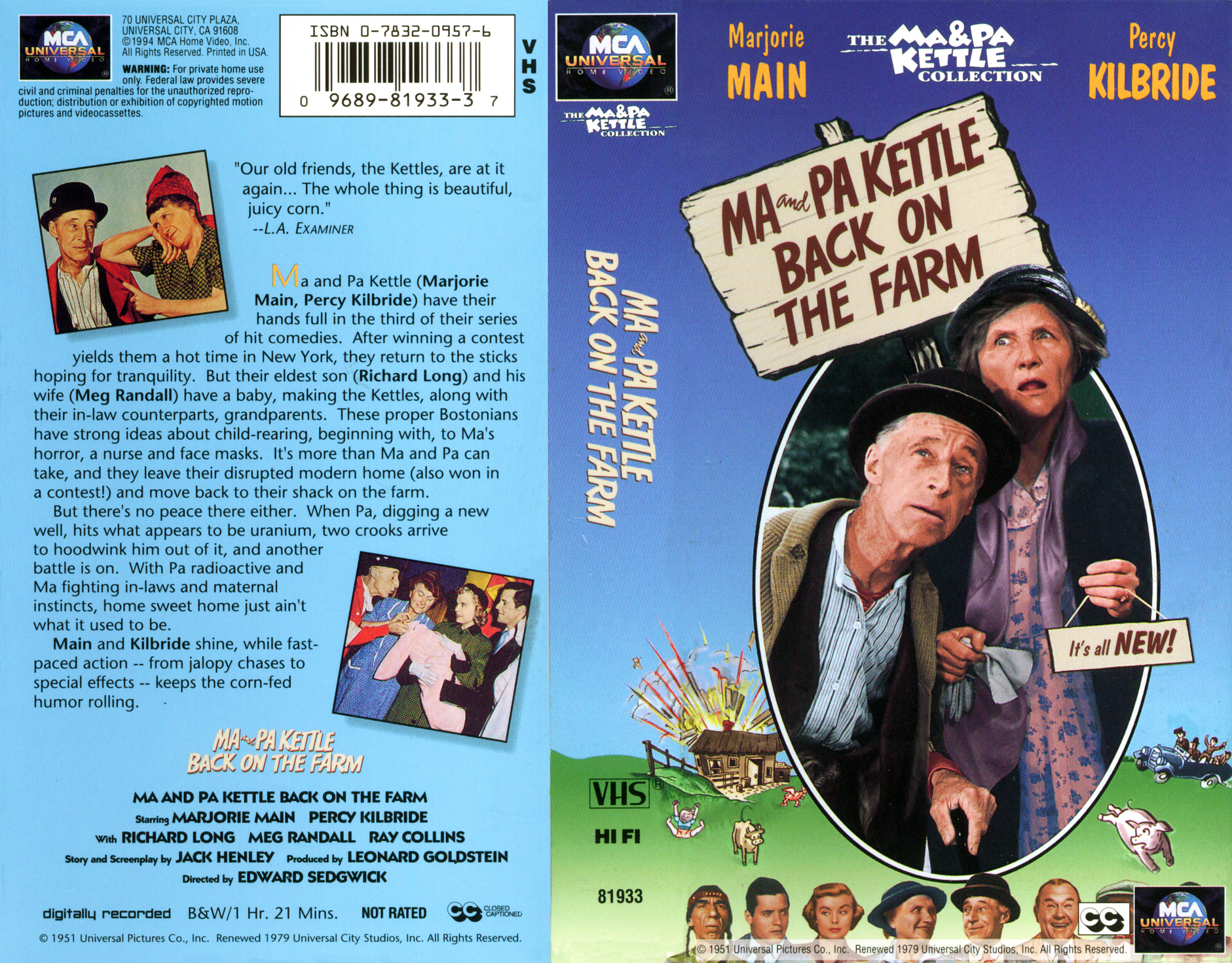 Ma and Pa Kettle Back on the Farm (1951) Movie
