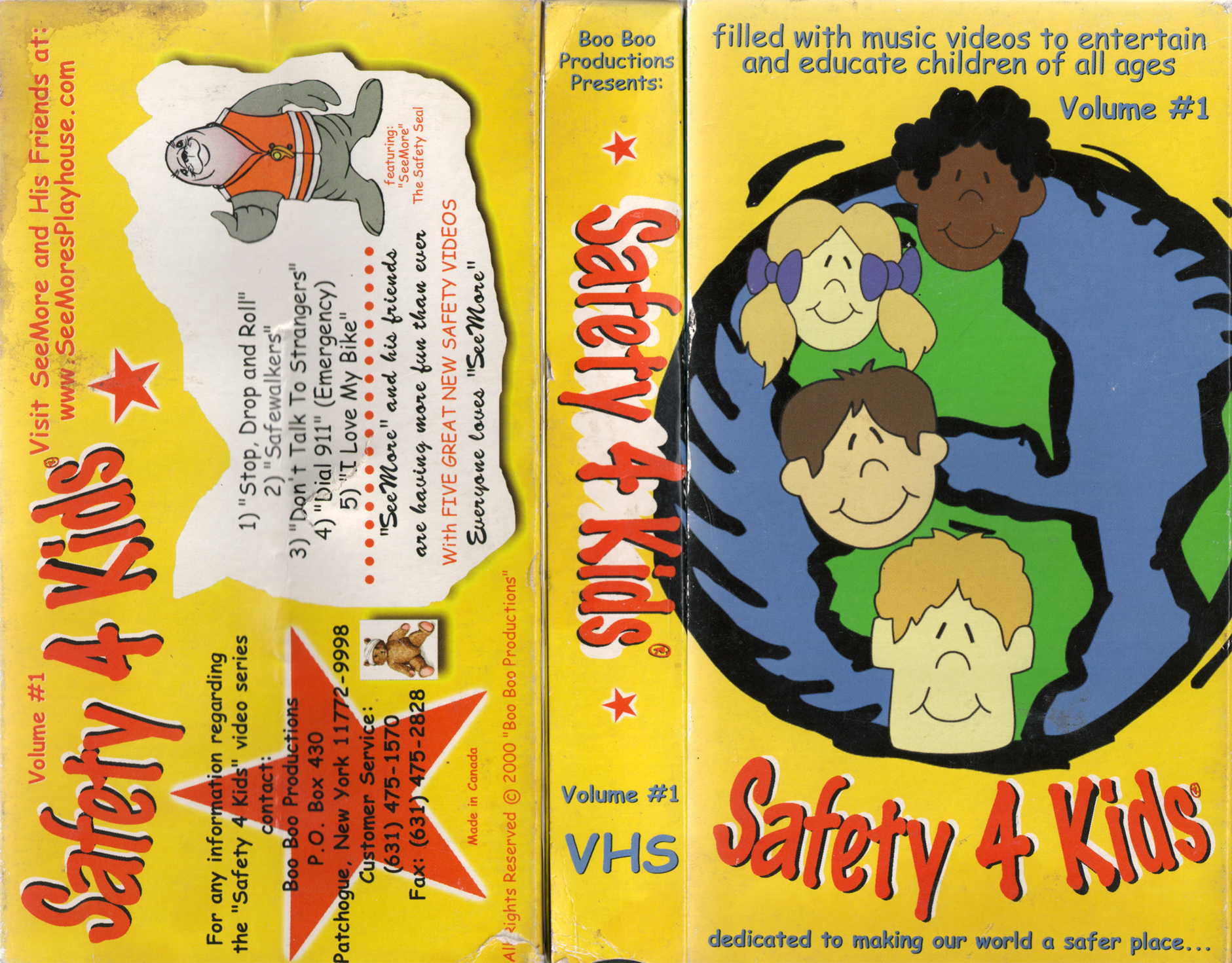 Kids Safety Calendar : Vhs wasteland your home for high resolution scans of rare