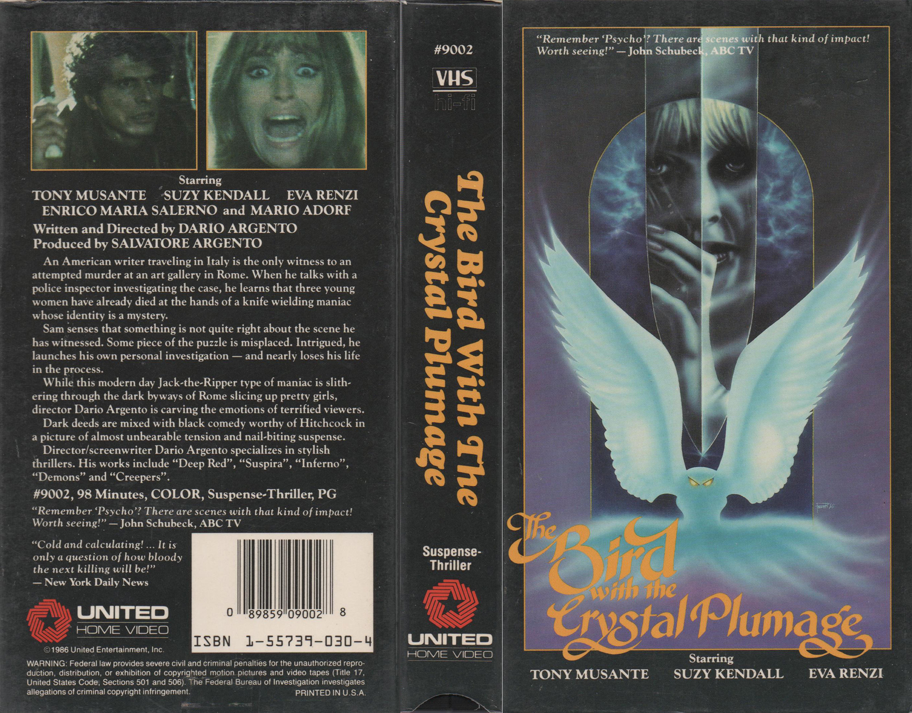 vhs wasteland your home for high resolution scans of rare the bird the crystal plumage submitted by ryan gelatin