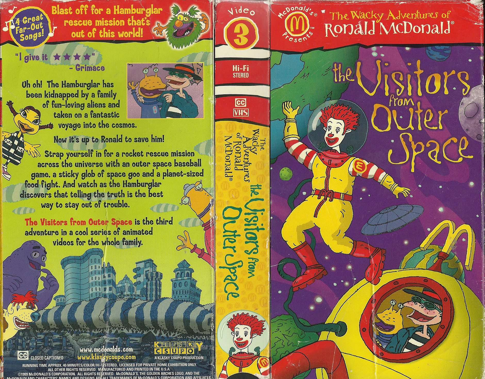 The Wacky Adventures Of Ronald McDonald Scared Silly Animated Details