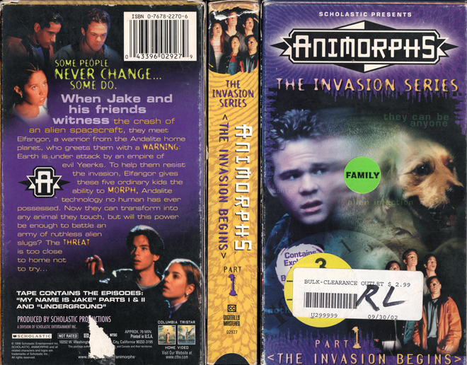 Animorphs Vhs Scan Movie Covers