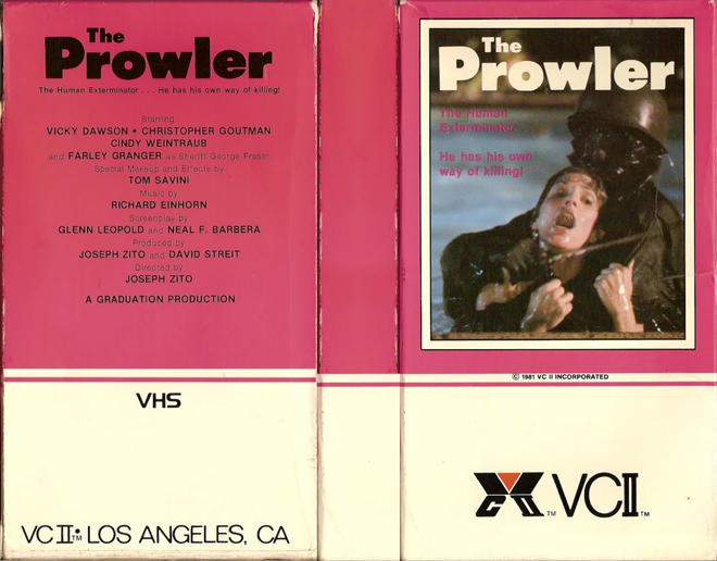 Image result for the prowler vhs box art