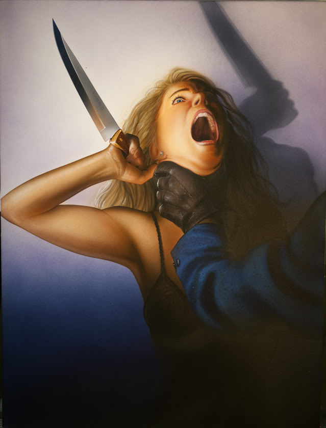 I Put Her In A Few Covers Only One The Horror Genre Its Cover For Scream And Die This Artwork Wasnt Used VHS Release But Promotional